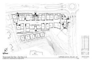 Upper Level Site Plan for 38-home Community Response Alternative